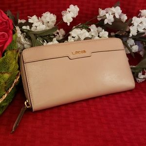 Lodis leather pink wallet